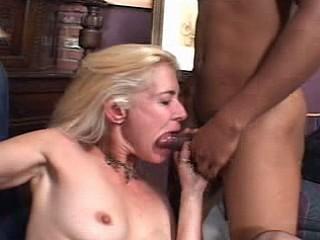 Hot blonde grandma can still do deep throat action