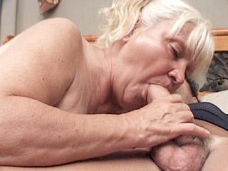 Blonde granny slut enjoying some hardcore loving